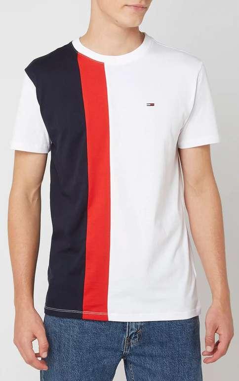 Tommy Jeans T-Shirt aus Baumwolle mit Blockstreifen für 19,99€inkl. Versand (statt 35€)