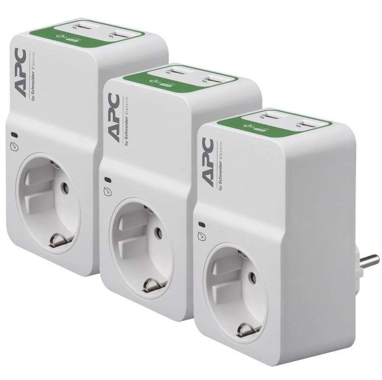 APC PM1WU2 Trio Essential SurgeArrest Überspannungsschutz Steckdosen mit je 2 USB-Ports für 24,90€