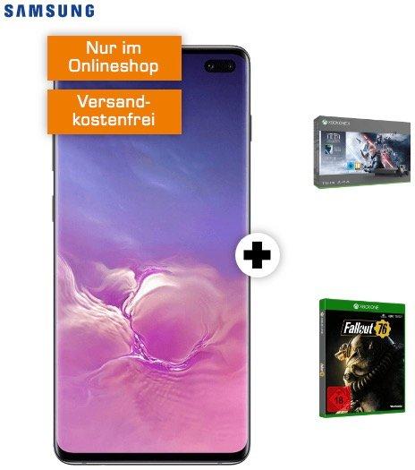 Galaxy S10 Plus + Xbox One X Star Wars Jedi: Fallen Order + Fallout 76 (49€) + 18GB Vodafone LTE für 36,99€ mtl.