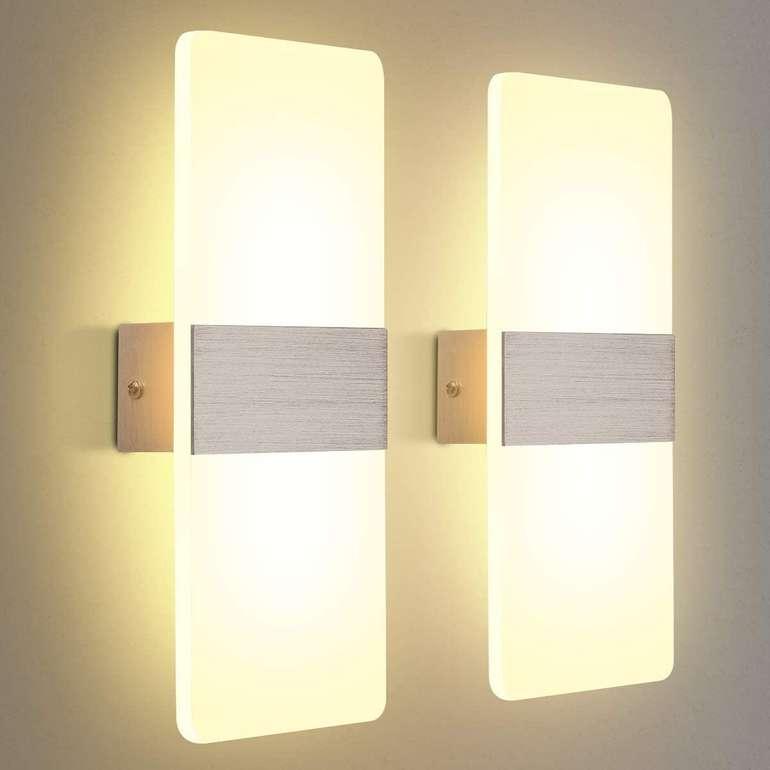 Kingso LED Wandleuchte im Doppelpack (12W, 3000K) für 19,49€ inkl. Versand (statt 30€)