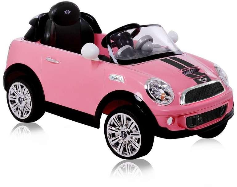 Rollplay Kinder-Elektroauto Mini Cooper S Roadster RC 6V in pink für 114,98€ inkl. Versand (statt 143€)
