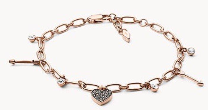 "Fossil JF03290791 Damen Armband ""Heart Charm"" für 33€ inkl. Versand (statt 48€)"