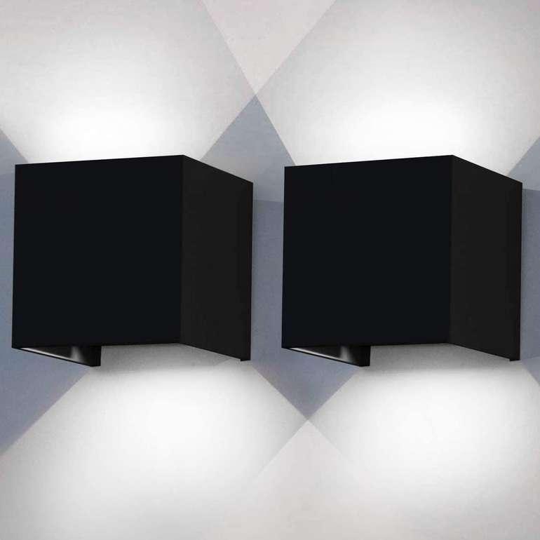"""Hengda LED Wandleuchten mit """"Up Down Effekt"""" reduziert, z.B. 2 x 12W schwarz für 23,09€ (statt 33€)"""