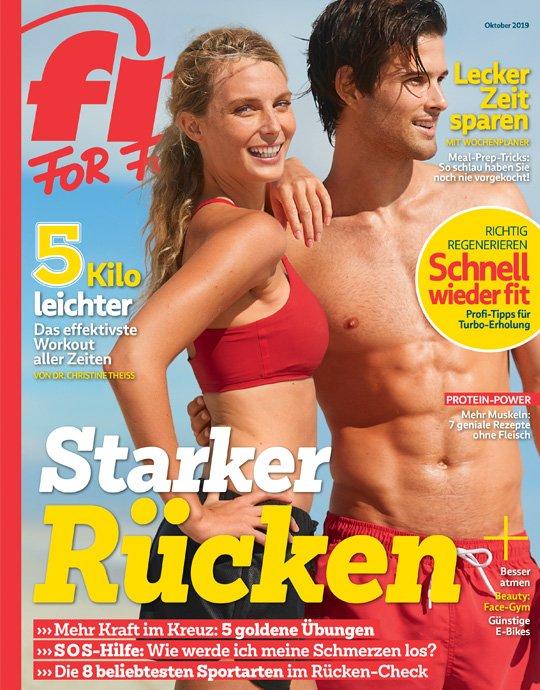 Fit for Fun im Halbjahresabo (6 Ausgaben) für 21,60€ + 15€ Verrechnungsscheck