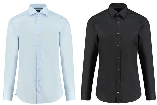 "Herren Slim Fit Langarm Hemd ""Victor"" in Blau oder Schwarz für 38,85€ inkl. VSK"