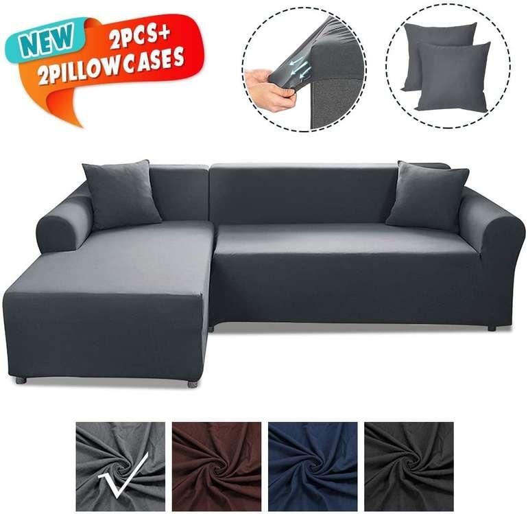 Elastische Caveen Sofa Überwürfe (2x Sofabezug + 2x Kissenbezug) für 35,09€ inkl. Versand (statt 55€)
