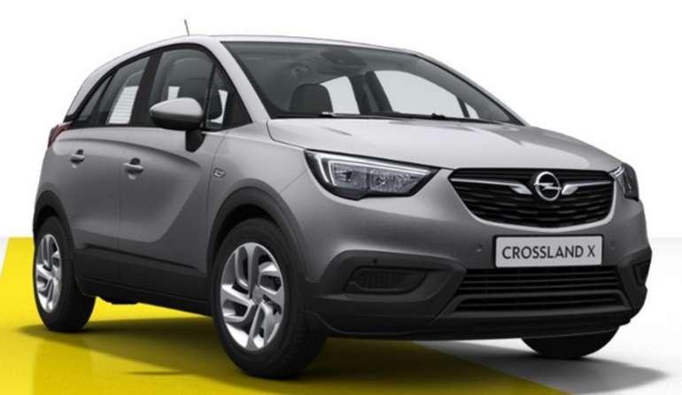 Gewerbe Leasing: Opel Crossland X Edition mit 83PS für 49€ netto mtl. (Überführung: 995€, LF: 0,25)