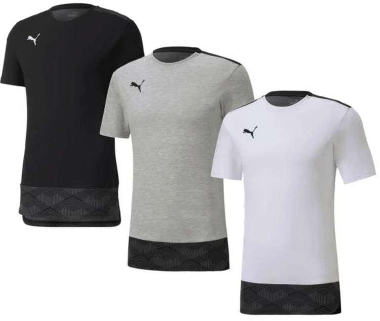 3er Pack Puma Shirt Team in schwarz, grau und weiß für 42,95€inkl. Versand (statt 69€)