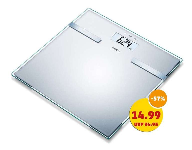 Sanitas SBF-14 Glas-Diagnose-Waage (bis 180kg) für 19,94€ inkl. Versand (statt 25€)