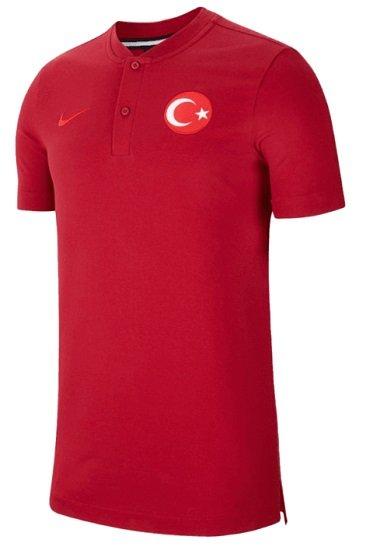 Nike Türkei Poloshirt Modern Authentic Grand Slam dunkelrot/rot für 34,96€ (statt 50€)