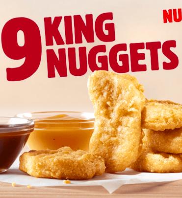 King Special: 9er King Nuggets inkl. 2 Dips für 1,49€ bei Burger King