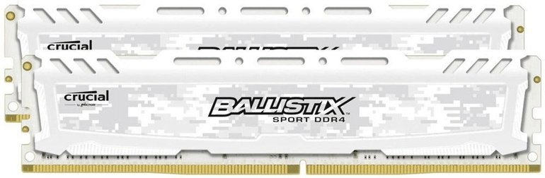 Ballistix Arbeitsspeicher Sport LT Weiß 8GB Kit (2x4GB) DDR4-2400 CL16 DIMM für 29€ inkl. VSK