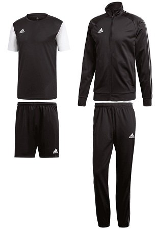 4-teiliges adidas Core 18 Trainingsset (Jacke + T-Shirt + Shorts + Hose) für 40€
