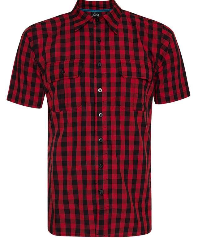 Nike Plaid Herren Kurzarm Hemd in Rot/Schwarz für 23,94€inkl. Versand (statt 35€)
