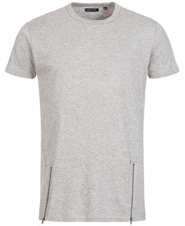 "Brave Soul ""Falcon"" Herren Double Zip T-Shirt für 6,17€ (statt 10€)"