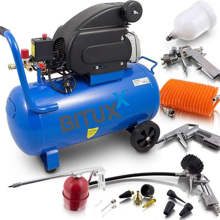 Bituxx 50 Liter Druckluftkompressor + 13-teiliges Zubehör Set für 118,90€ inkl. Versand (statt 140€)