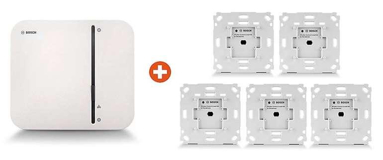 Bosch Smart Home Starter Set Rollladensteuerung + 5 Unterputzschalter & Controller für 269€ (statt 299€)