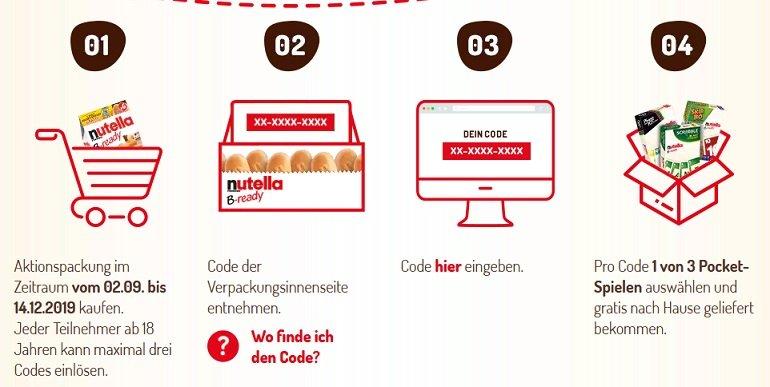 nutella B-ready Aktionspackung Pocketspiel 2
