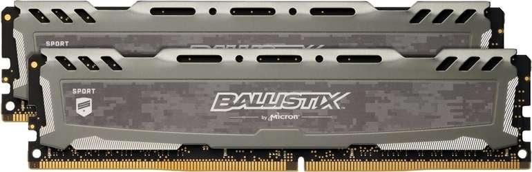 Ballistix Arbeitsspeicher Sport LT 16GB DDR4 Kit 3000 (Grau) für 57,97€ inkl. VSK (Mastercard)