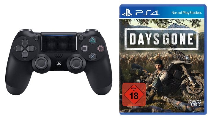 PlayStation 4 Dualshock Controller V2 + Days Gone für 79€ (statt 96,98€)