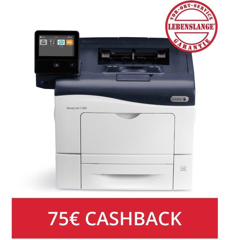 Xerox VersaLink C400N Farblaserdrucker für 249,90€ inkl. Versand + 75€ Cashback