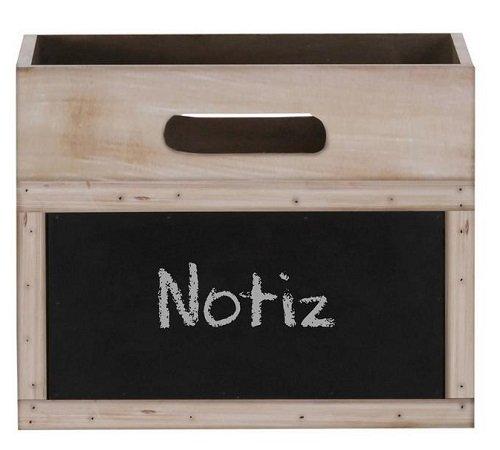3er Set Aufbewahrungsboxen aus Holz mit Tafel für 25€ (statt 38€)