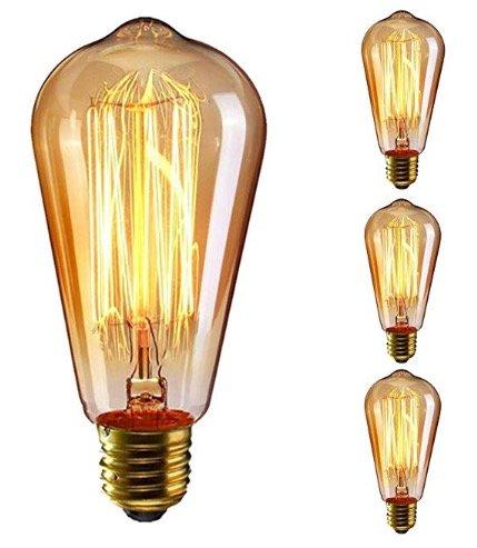 3er-Pack KingSo E27 Vintage-Glühbirnen für 9,49€ inkl. Versand (Prime)