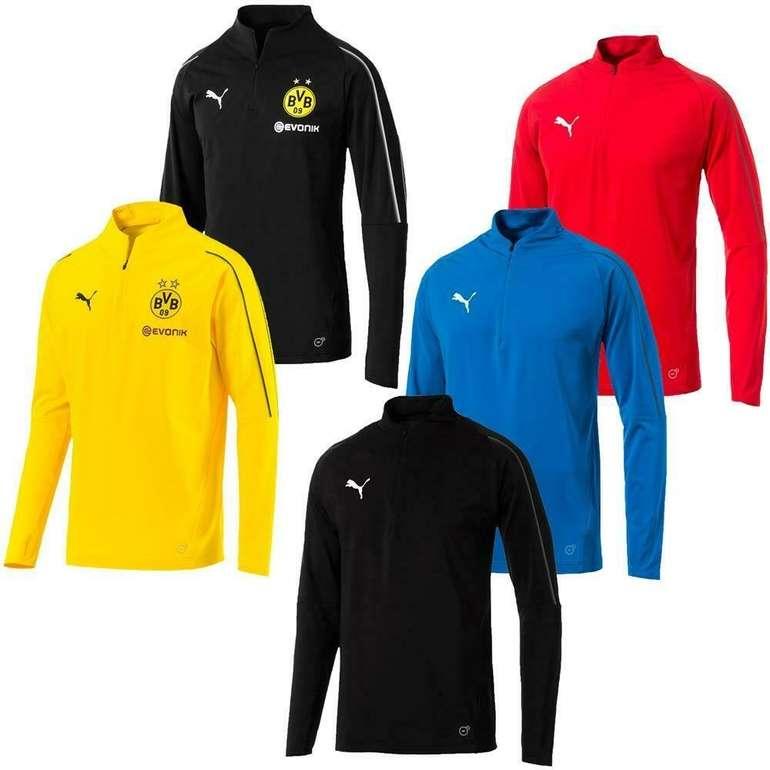 Puma BVB Zip langarm Fußball Trainingsshirt für 19,99€ inkl. Versand (statt 25€)