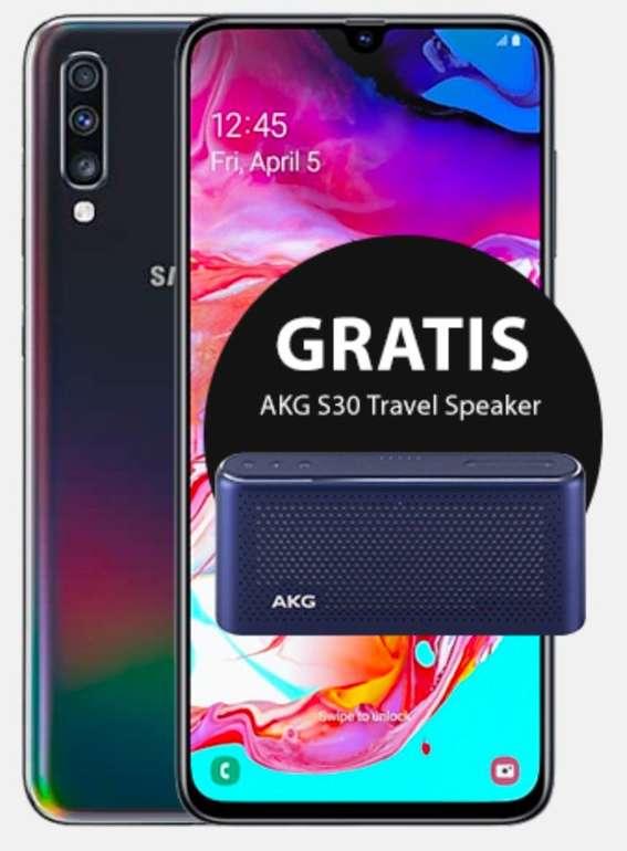 o2 Bestandskunden: Samsung Galaxy A70 (4,95€) + o2 Free L Partnerkarte (60GB LTE, All-Net, SMS-Flat) je 22,49€ mtl.
