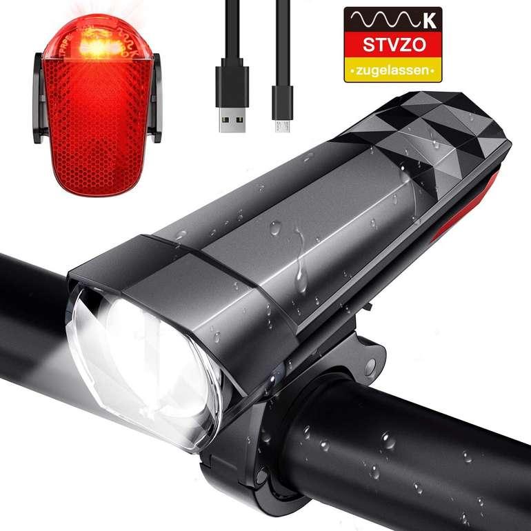 Fylina aufladbare LED Fahrradbeleuchtung im Set für 13,99€ inkl. Prime Versand (statt 25€)