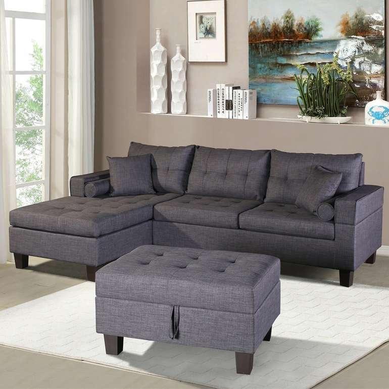 """Home Deluxe Sofa """"Rom"""" (2 teilig, breite Sitzfläche) für 399€ inkl. Versand (statt 660€)"""