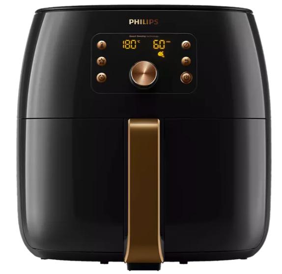 Philips HD9860/90 Heißluftfritteuse mit 2225 Watt in Schwarz/Kupfer für 249,49€inkl. Versand (statt 288€)