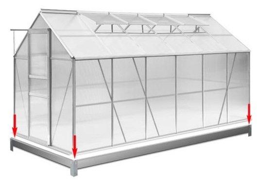 Deuba Gewächshaus inkl. Fundament mit 7,22m² Grundfläche für 279,95€ inkl. VSK