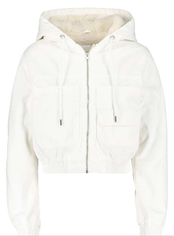Tally Weijl kurze Jacke mit Kapuze in Weiß oder Schwarz für 18,99€inkl. Versand (statt 34€)