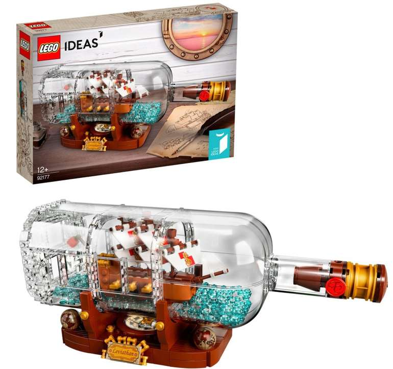 Geschenkideen zum Osterfest: z.B. Lego Ideas - Schiff in der Flasche (21313) für 59,90€ inkl. Versand (statt 70€)