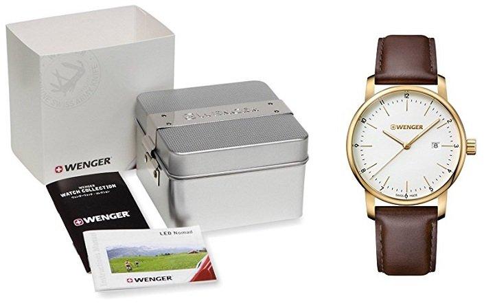 Fehler? Wenger Unisex Quarz Leder-Armbanduhr 01.1741.108 für 38,40€ (statt 119€)