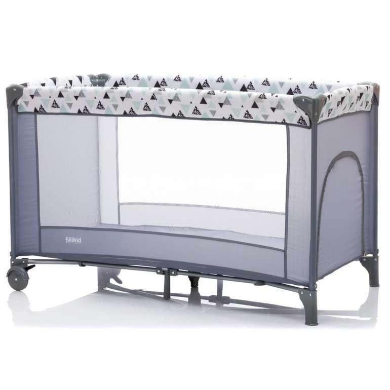 Fillikid Reisebett Standard Triangel Grau (120 x 60 cm) für 37,60€ inkl. Versand (statt 55€)