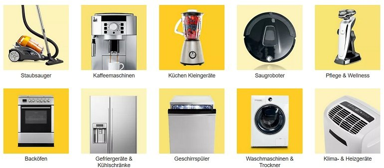 Ebay Rabatt Haushaltsgeräte