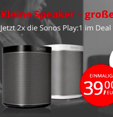 Vodafone Allnet-Flat mit 4GB für 19,99€ mtl. + 2x Sonos Play:1 für einmalig 29€