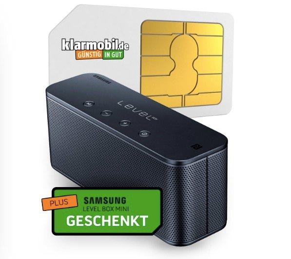 Klarmobil Flat (Vodafone) mit 1GB & 100 Minuten + Level Mini Box für 4,95€ mtl.