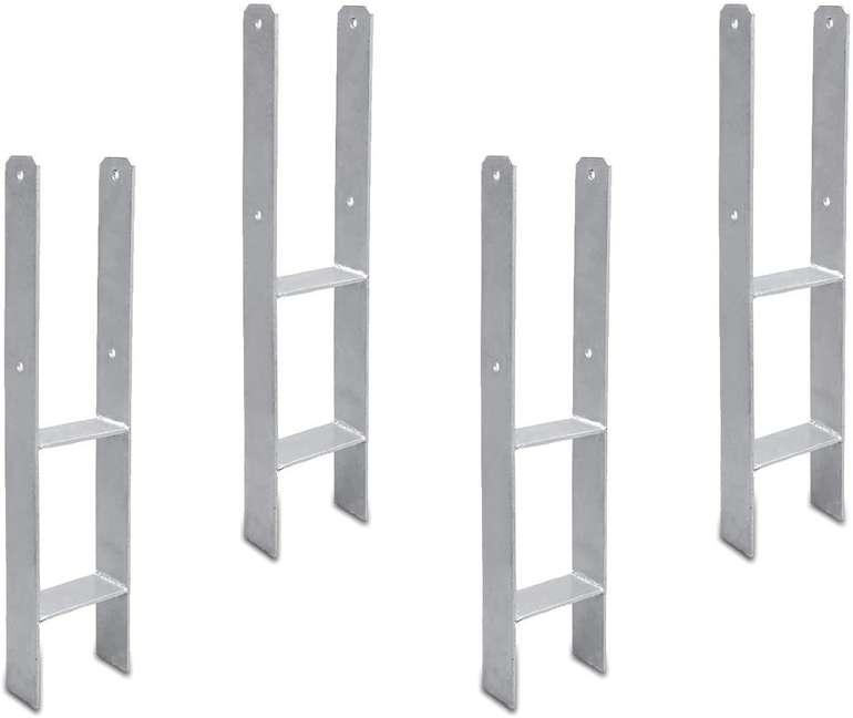 Hengda Pfostenträger 4er Set (verzinkt, Vierkantholzpfosten) ab 31,85€ inkl. Versand (statt 46€)