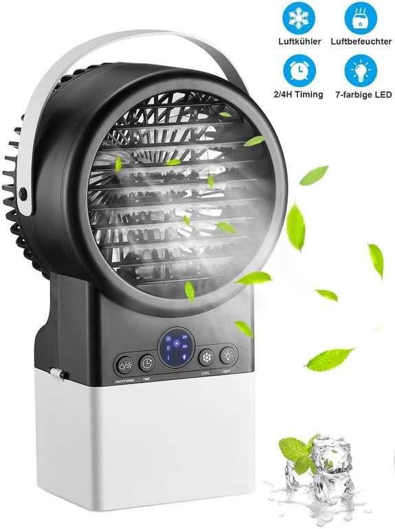 Homitt Mini Luftkühler mit LED Nachtlicht für 20,99€ inkl. Versand (statt 46€)