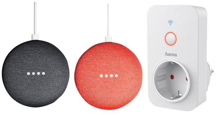 2x Google Home Mini (3 Farben) + HAMA WiFi-Steckdose + Youtube Premium für 65€