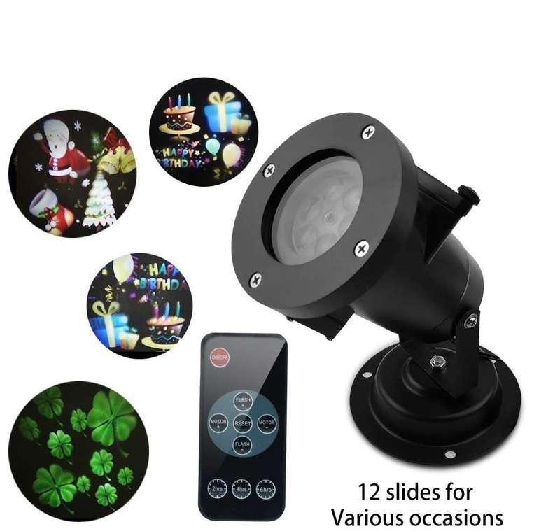 Muzili LED Projektor mit verschiedenen Motiven für Innen & Außen für 15,99€ (Prime)