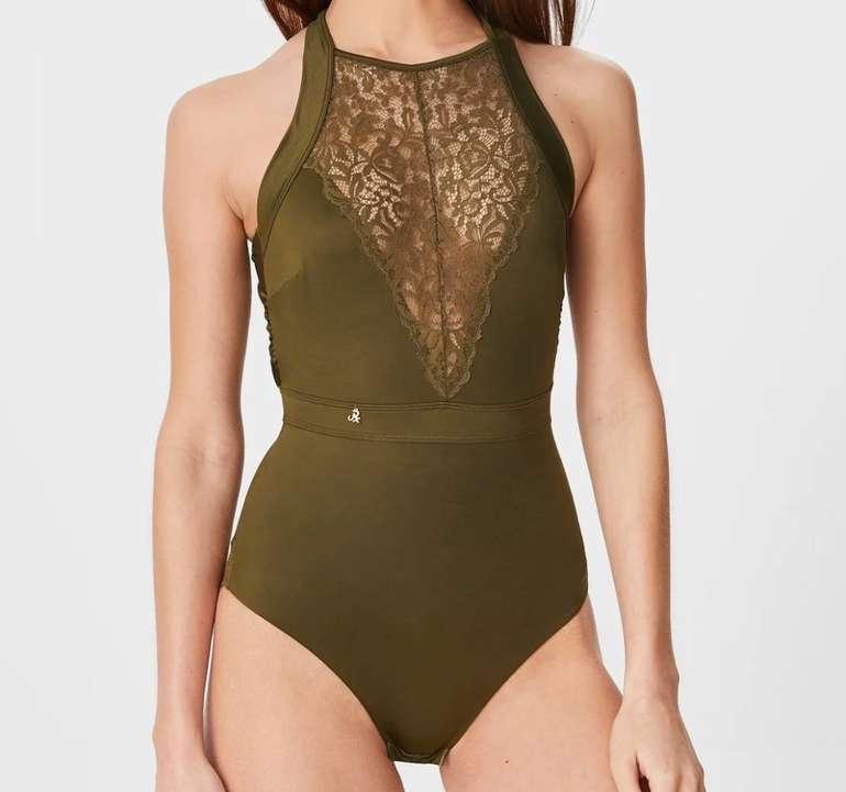 Janet Reger Damen Body in dunkelgrün für 14,99€ inkl. Versand (statt 35€)