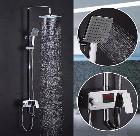 Homelody 3-in 1 Regen-Duschsystem mit Handbrause & LCD Display für 98,99€