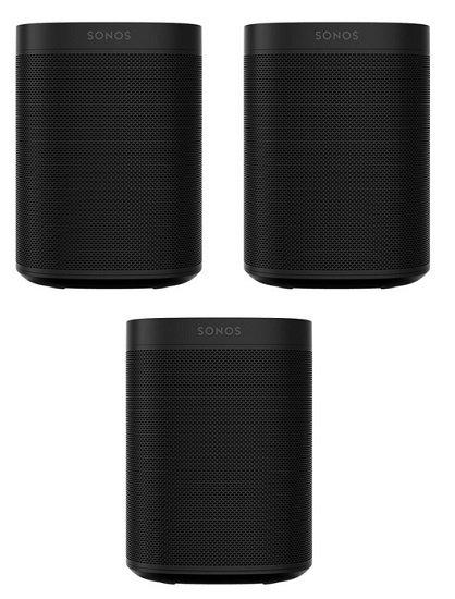 3er Set Sonos One SL WLAN-Lautsprecher für 464,95€ (statt 507€) - 154,98€ / Stück