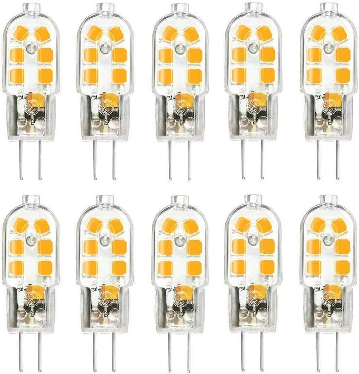 10er Pack Kingso G4 LED Lampen (Warmweiß, 3W) für 8,24€ inkl. Prime VSK