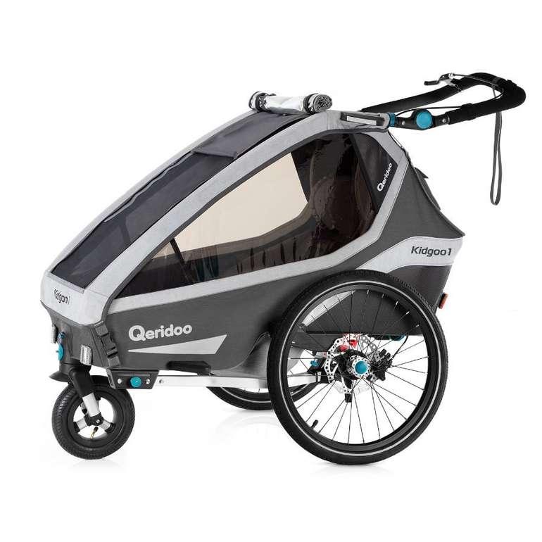 Babymarkt: Bis zu 70€ Rabatt je nach Bestellwert, z.B. Qeridoo Fahrradanhänger Kidgoo 1 Sport Grey für 485,15€