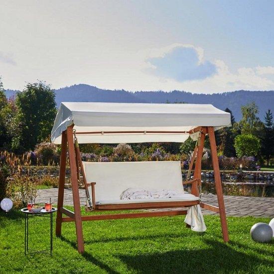 Bessagi Garden Hollywoodschaukel Acacia aus echtem Akazienholz für 149,25€ inkl. Versand (statt 209€)